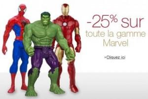 Bon plan figurine / article Marvel : 25% de remise immédiate