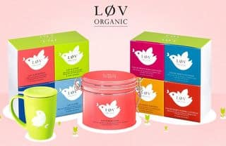 Bon plan thés et infusions bio : 25€ pour 50€ Løv Organic