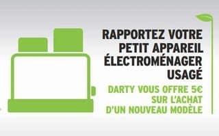 Darty reprends votre ancien petit électroménager 5 euros