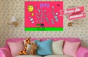 Bon plan fête des mères : 70 % de remise le dessin de votre enfant en toile sur Fantatoile pour 5 euros
