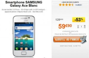Galaxy Ace Samsung moins cher