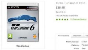 Gran Turismo 6 pour PS3 à 18,45 euros port inclus (au lieu de 39 euros)