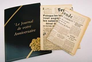 Journal du jour de sa naissance