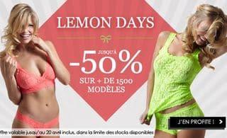 Lemon Days jusqu'à moins 50% sur plus de 1500 articles de lingeries