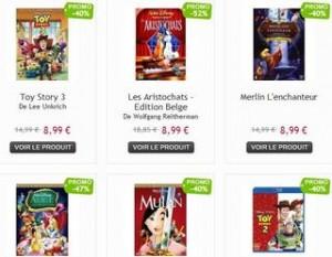Plus de 100 Blu-Ray DVD Disney a moins de 9 euros