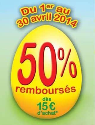 Ravensburger/Nathan acheté = 50% remboursés (ODR 2014)