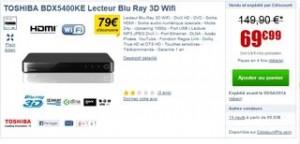 TOSHIBA BDX5400KE Lecteur Blu Ray 3D Wifi