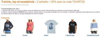 20 de remise imm diate pour 2 t shirts achet s - Code promo les enfants du design ...
