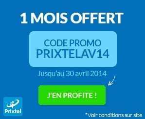 code promo Prixtel 1 mois gratuit