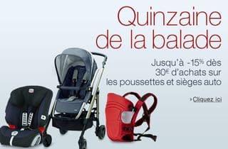 Sièges auto, poussettes et porte-bébés