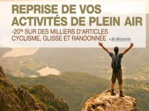Plus de 2000 articles de randonnée et plein air à moins 20% (code promo dès 50 euros)