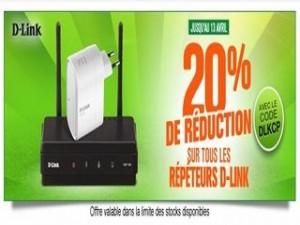 20% de remises sur les répéteurs D-Link