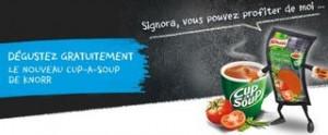 Cup-a-Soup Knorr gratuit