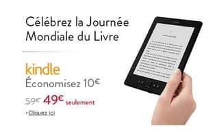 liseuse Amazon Kindle 6  pouces à moins de 50 euros port inclus