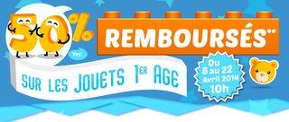 offre remboursement Cdiscount jouets premiers ages