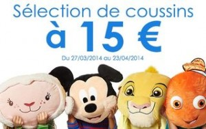 Gros coussins Disney en promo à 15 euros