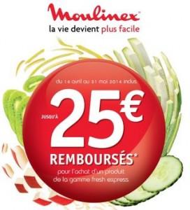 remboursements sur les Fresh Express Moulinex