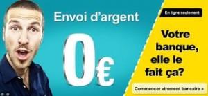 transfert d'argent gratuit avec Western Union
