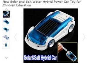 véhicule hybride qui fonctionne à l'énergie solaire ou à l'eau salée pour seulement 2,94 euros