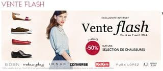 vente flash chaussures Galeries Lafayette