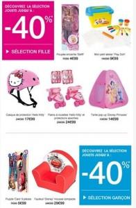 4 jours de vente flash jouets chez Kiabi
