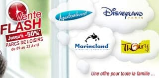 Vente flash DisneyLand, Marineland, Aquaboulevard et parc Thoiry