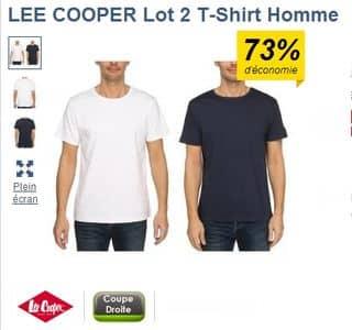 2 t-shirts homme Lee Cooper pour 7,99 euros (différents modèles)
