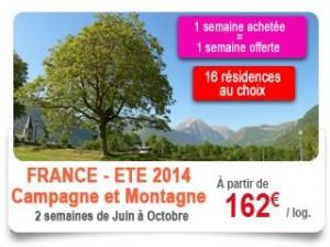 1 semaine gratuite pour 1 semaine achetée en exclu internet chez Voyages Auchan