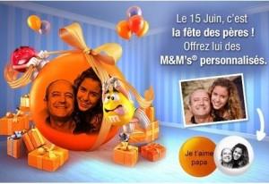 15 euros de M&M's personnalisés pour 3,50 euros