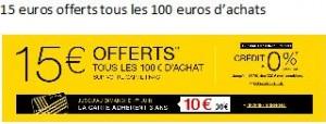 FNAC : 15€ offerts tous les 100€ d'achats + carte adhérent 3 ans pour 10 euros