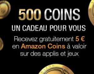 5 euros d'application Android sur App-store Amazon