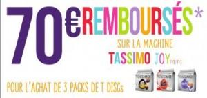 l'offre 70 euros de remboursement Tassimo mai 2014