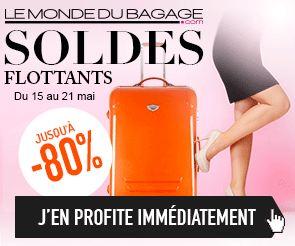 Bagages en soldes sur Le Monde du bagage
