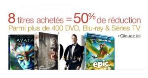 Bon plan Blu-Ray / DVD : 8 titres = 50% de remises immédiates