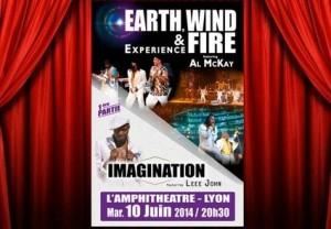 Concert de Earth, Wind & Fire et Imagination à moitié prix