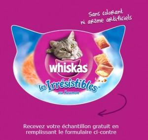 Echantillon friandises Irrésistibles de WHISKAS gratuit