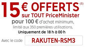 Happy Hours Priceminister 15 euros offerts pour 100 euros d'achats de 18h à minuit