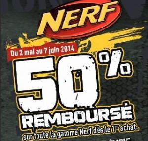 Offre de remboursement Nerf