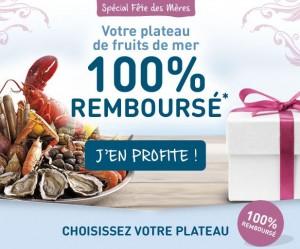 Plateau de fruits de mer 100% remboursé chez Amarine