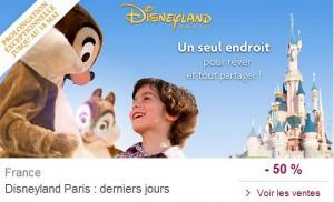 Séjours DisneyLand en vente privée à moins 50%