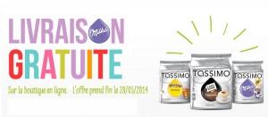 Tassimo : livraison gratuite pendant 6 jours