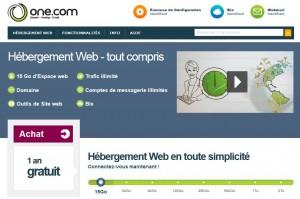 Un site gratuit : Hébergement 15 Go + Nom de domaine (.fr, .com … ) / 1 an sans engagement