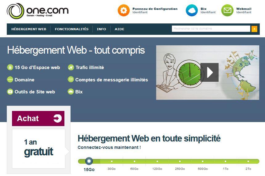 Site internet gratuit h bergement 15 go nom de domaine for Site web gratuit