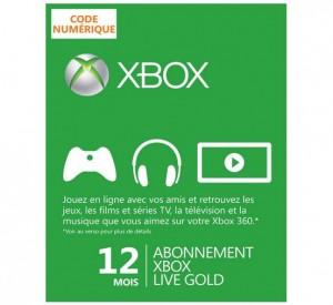 Xbox Live Gold 12 mois à 29 euros
