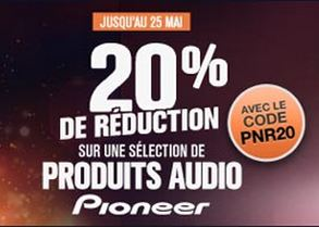 code promo -20% sur les Pioneer