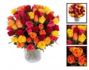 bouquet de 60 roses pour seulement 25 euros