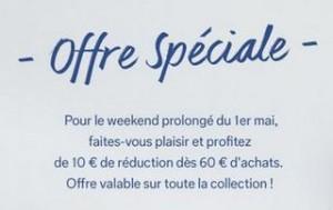 Aujourd'hui 10 euros offerts pour 60 euros sur C&A