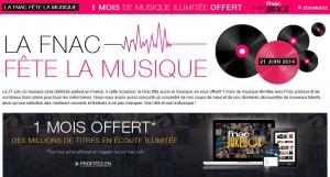 1 mois de musique illimitée gratuitement sur Fnac Jukebox