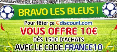 10 euros offerts pour 150 euros d'achats sur Cdiscount