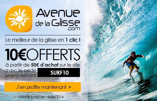 code promo avenue de la glisse 10 euros offerts pour 50 euros d achat. Black Bedroom Furniture Sets. Home Design Ideas